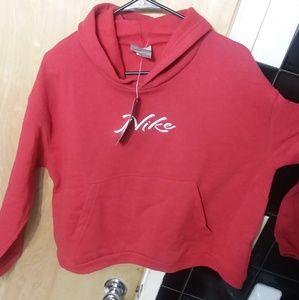 NWT Women's Nike crop hoodie XL